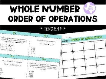 Order Of Operations (TEKS 5.4F)