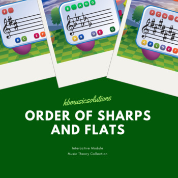 Order Of Sharps And Flats Music Interactive Activity