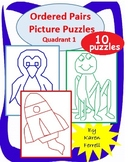 Ordered Pairs Mystery Picture Puzzles (More Quadrant 1)