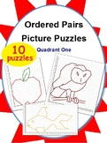 Ordered Pairs Mystery Picture Puzzles (Quadrant 1)