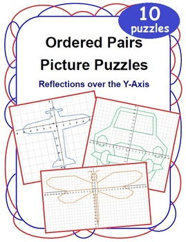 Ordered Pairs Mystery Picture Puzzles (Reflections Over the Y-Axis)