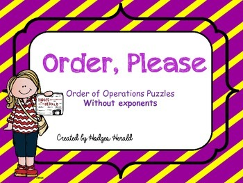 Order, Please