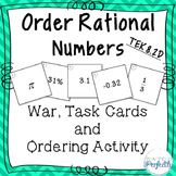 Order Rational Numbers TEK 8.2D