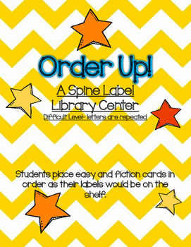 Order Up! A Library Shelf Order Game- Hard Level