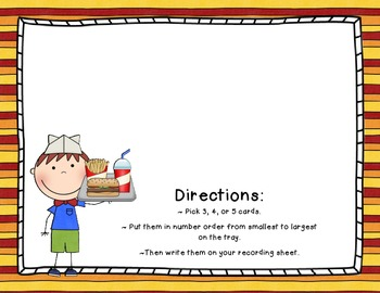 Order Up! - A Number Order Game