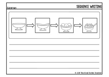 Order Up! A sequence writing pack