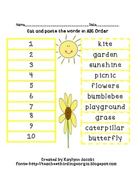 Order Up - ABC Order Packet