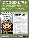 Alphabetizing Skills- Level 1 (First Letter) - Order Up!