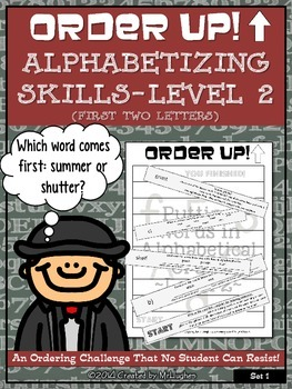 Alphabetizing Skills- Level 2 (First Two Letters) - Order Up!