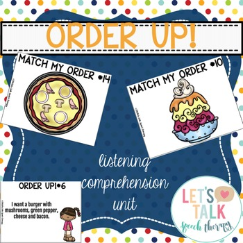 Order Up! Auditory Comprehension and Memory Packet for Spe