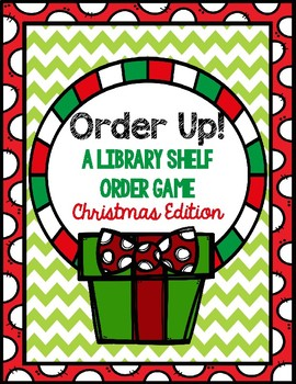 Order Up!  Christmas Edition-Library Shelf Order Game