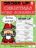 Christmas Word Scramble - Order Up!