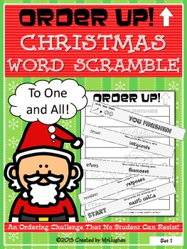 Christmas Word Scramble - Order Up!