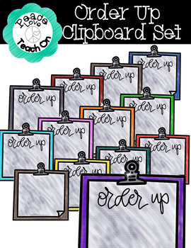 Order Up Clipboard Set by Peace Love Teach On