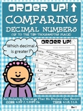 Comparing Decimal Numbers - Order Up!