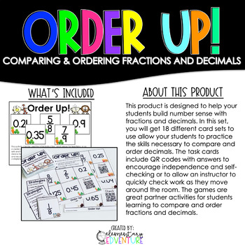 Order Up! Comparing and Ordering Fractions and Decimals