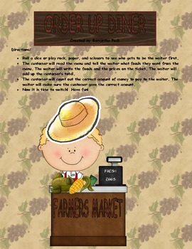 Order Up Diner Farmers Market Edition