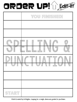 Spelling and Punctuation {Order Up! Edit It!} Set 1