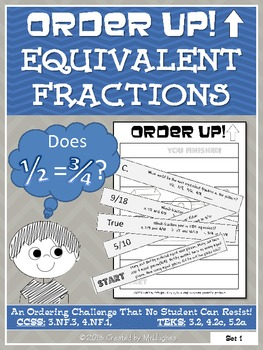 Equivalent Fractions - Order Up!