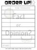 Fact and Opinion - Order Up!