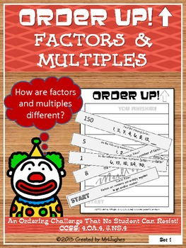 Factors and Multiples - Order Up!