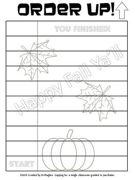 Word Scramble - Fall Themed Order Up!