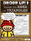 Finding the Area of Triangles - Order Up!