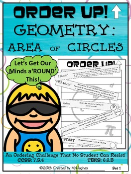 Area of Circles - Order Up!