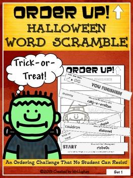 Halloween Word Scramble - Order Up!