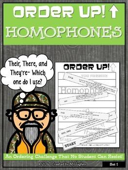 Homophones - Order Up! Set 1