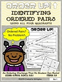 Ordered Pairs Using Four Quadrants - Order Up!