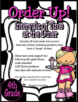 Order Up!  Intervals of Time at the Diner (TEKS 4.8C) STAAR Practice