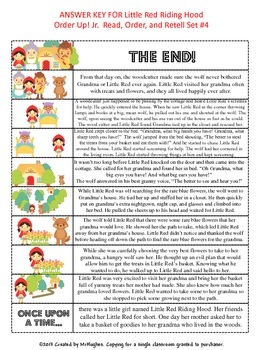Little Red Riding Hood - Order Up! Jr. Read, Order, and Retell