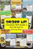 Language Arts Bundle #1 Order Up! (10 Sets)