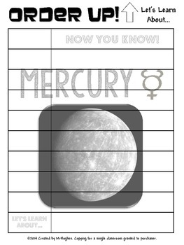 Mercury - Order Up! Let's Learn About... Our Solar System