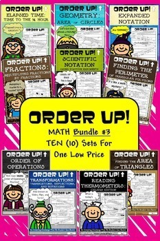 Math Bundle #3 Order Up! (10 Sets)