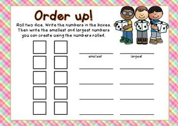 Order Up! Math Centre Activity