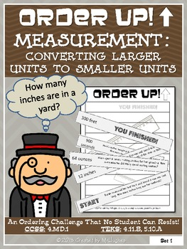 Measurement : Converting Larger Units to Smaller Units - Order Up!