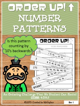 Number Patterns - Order Up!