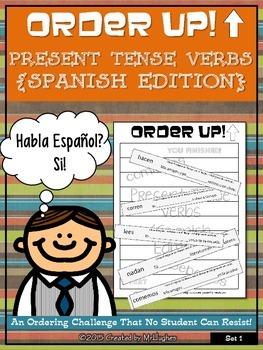 Present Tense Verbs - Order Up! (Spanish) Set 1