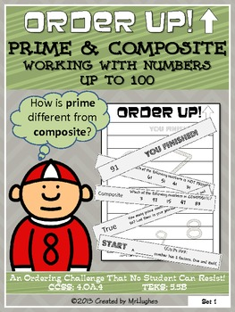 Prime and Composite Numbers To 100 - Order Up!