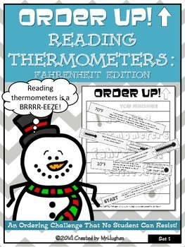 Reading Thermometers: Fahrenheit Edition -Order Up! (Set 1)