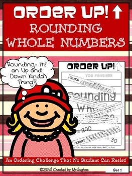 Rounding Whole Numbers - Order Up! Set 1