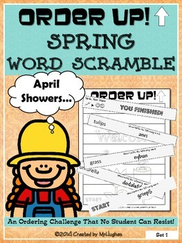 SPRING Word Scramble - Order Up!