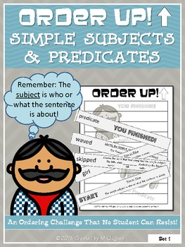 Simple Subjects and Predicates - Order Up!
