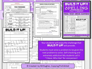 Spelling Patterns - Order Up!  {Free}