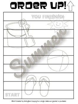 Summer Word Scramble - Order Up!