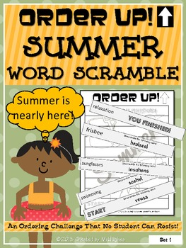 Summer Word Scramble - Order Up!