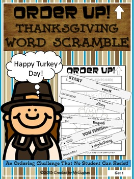 Thanksgiving Word Scramble - Order Up!