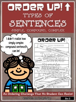 Simple, Compound, Complex {Types of Sentences Set #2} - Order Up!